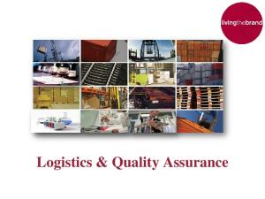 Logistics & Quality Assurance