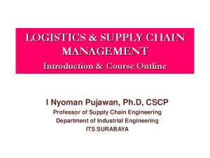 LOGISTICS & SUPPLY CHAIN MANAGEMENT
