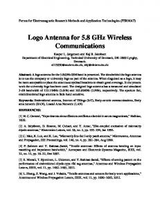 Logo Antenna for 5.8 GHz Wireless Communications