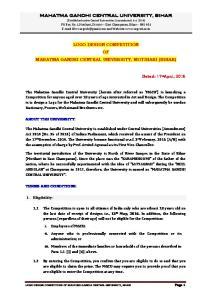LOGO DESIGN COMPETITION OF MAHATMA GANDHI CENTRAL UNIVERSITY, MOTIHARI (BIHAR)