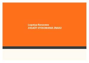 Logotyp Rzeszowa ZASADY STOSOWANIA ZNAKU