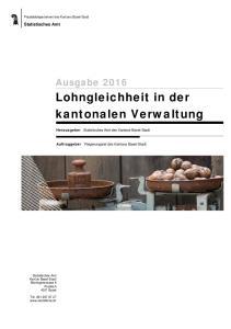 Lohngleichheit in der kantonalen Verwaltung