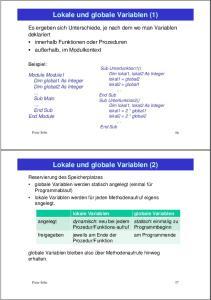 Lokale und globale Variablen (1)