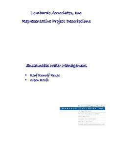 Lombardo Associates, Inc. Representative Project Descriptions