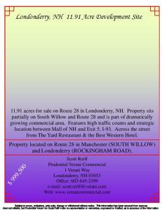 Londonderry, NH Acre Development Site