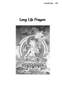 Long Life Prayers. Long Life Prayers 319
