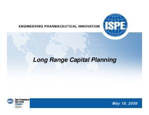 Long Range Capital Planning