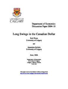 Long Swings in the Canadian Dollar