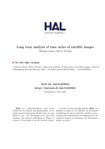 Long term analysis of time series of satellite images