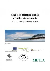 Long-term ecological studies in Northern Fennoscandia