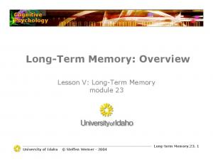 Long-Term Memory: Overview