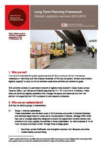 Long Term Planning Framework Global Logistics service