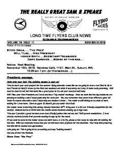 LONG TIME FLYERS CLUB NEWS