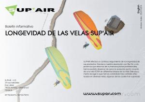 LONGEVIDAD DE LAS VELAS SUP'AIR