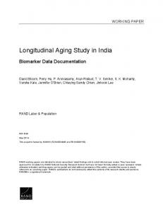 Longitudinal Aging Study in India