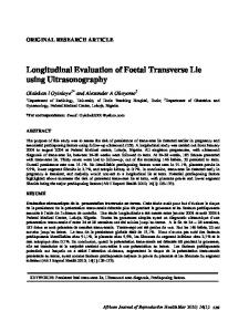 Longitudinal Evaluation of Foetal Transverse Lie using Ultrasonography