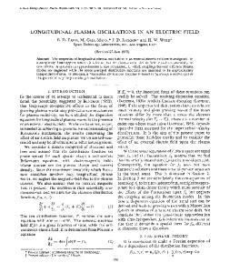 LONGITUDINAL PLASMA OSCILLATIONS IN AN ELECTRIC FIELD