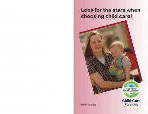 Look for the stars when choosing child care!