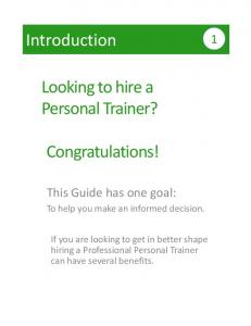 Looking to hire a Personal Trainer? Congratulations!