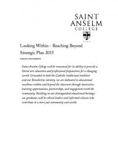 Looking Within - Reaching Beyond Strategic Plan 2015