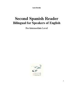Lora Estrada Second Spanish Reader Bilingual for Speakers of English
