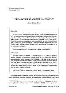 LORCA, DON JUAN MANUEL Y ALFONSO XI