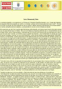 Lorca: Homosexual y Poeta