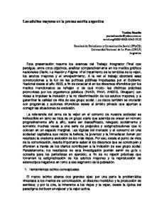 Los adultos mayores en la prensa escrita argentina