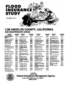 LOS ANGELES COUNTY, CALIFORNIA AND INCORPORATED AREAS
