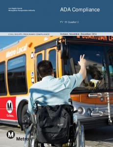 Los Angeles County Metropolitan Transportation Authority. civil rights programs compliance