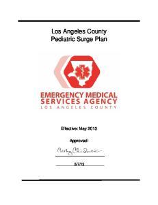 Los Angeles County Pediatric Surge Plan