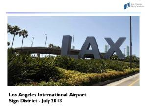 Los Angeles International Airport Sign District - July 2013