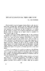 LOS ANTECEDENTES DEL NIHILISMO RUSO