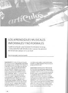 LOS APRENDIZAJES MUSICALES INFORMALES Y NO FORMALES