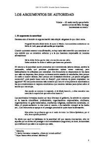 LOS ARGUMENTOS DE AUTORIDAD