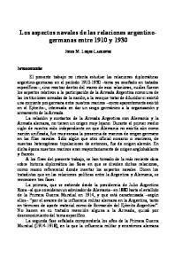 Los aspectos navales de las relaciones argentinogermanas