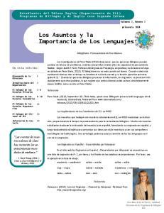 Los Asuntos y la Importancia de Los Lenguajes