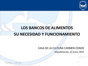 LOS BANCOS DE ALIMENTOS SU NECESIDAD Y FUNCIONAMIENTO