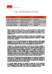 LOS + BUSCADOS DE 2012