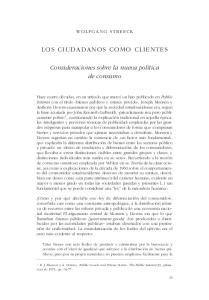 LOS CIUDADANOS COMO CLIENTES
