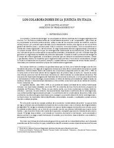 LOS COLABORADORES DE LA JUSTICIA EN ITALIA