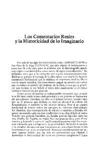 Los Comentarios Reales y la Historicidad de lo Imaginario