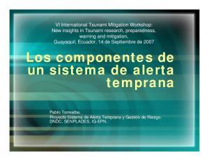 Los componentes de un sistema de alerta temprana