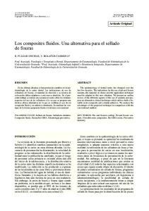 Los composites fluidos. Una alternativa para el sellado de fisuras