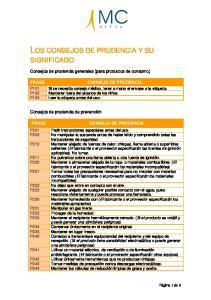 LOS CONSEJOS DE PRUDENCIA Y SU