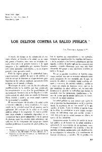LOS DELITOS CONTRA LA SALUD PUBLICA *