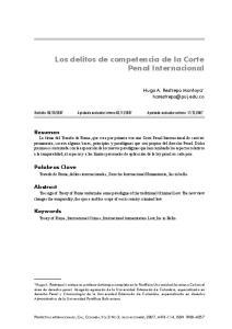 Los delitos de competencia de la Corte Penal Internacional