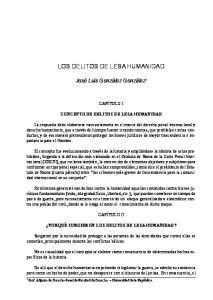 LOS DELITOS DE LESA HUMANIDAD