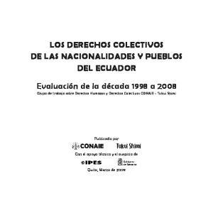 LOS DERECHOS COLECTIVOS DE LAS NACIONALIDADES Y PUEBLOS DEL ECUADOR