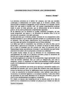 LOS DERECHOS COLECTIVOS DE LOS CONSUMIDORES